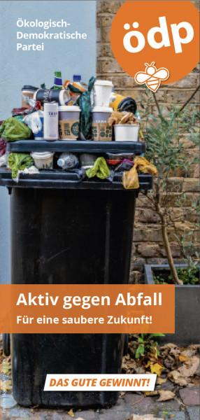 Faltblatt Aktiv gegen Abfall