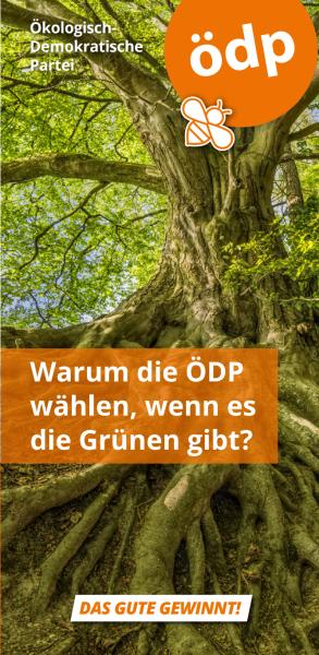 Faltblatt ÖDP vs. Grüne