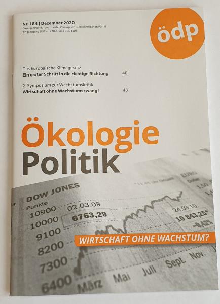 """Mitgliederzeitschrift """"Ökologie-Politik"""""""