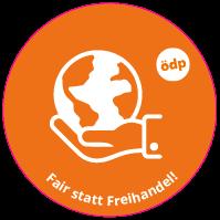 ÖDP-Sticker Fairhandel