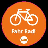 "ÖDP-Sticker ""Fahr Rad"""