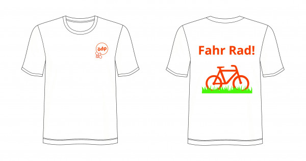 Shirt FahrRad mit ÖDP-Logo