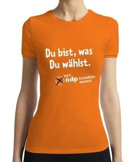 """ÖDP T-Shirt """"Du bist, was Du wählst"""""""
