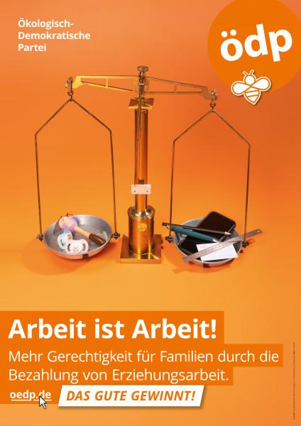 """A1 Hohlkammer-Plakat """"Familie!"""""""