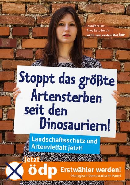 """Erstwählerplakat """"Artensterben"""" Pappe Doppel-A1"""