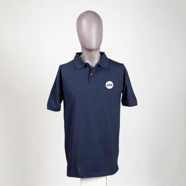 Poloshirt in Navy Blau mit ÖDP-Logo (bestickt)