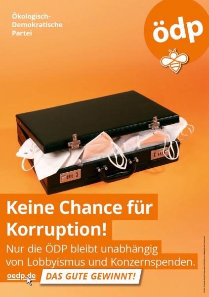 """A1 Hohlkammer-Plakat """"Korruption"""""""