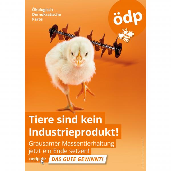"""A1 Hohlkammer-Plakat """"Tiere sind kein Industrieprodukt!"""""""