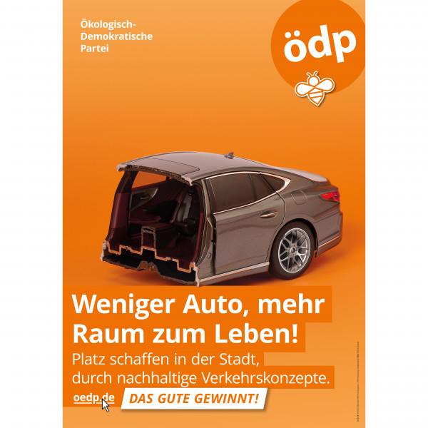 """A1 Papier-Plakat """"Weniger Auto, mehr Raum zum Leben!"""""""