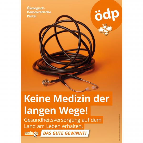"A0 Papier-Plakat ""Keine Medizin der langen Wege!"""