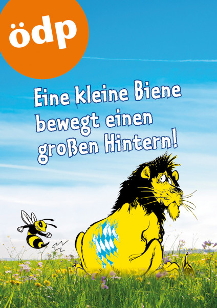 Biene piekst Löwen Papier A1